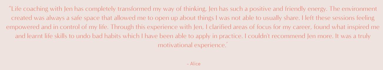 Jenni revie life coach